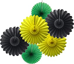 product image for Hello Jamaica Party Fan Collection (6 Assorted Fans)