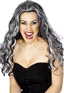 gray witch wig