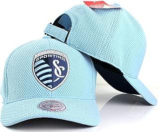 Mitchell & Ness MLS Hexagon Jersey Mesh Strapback Hat (Sporting Kansas City)