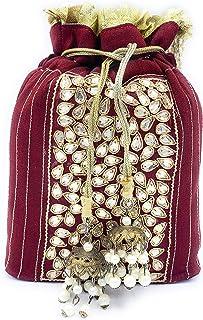 ADORA FASHION INDIAN HANDMADE CLUTCH BAG FOR WOMEN. ADORA ACI 098 MAROON
