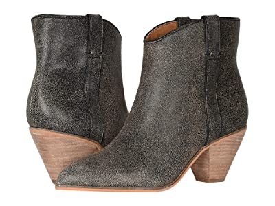 FRYE AND CO. Maley Pull Tab (Black Multi Distressed Leather) Women