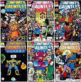 Infinity Gauntlet #1-6 Complete Limited Series (Marvel Comics 1991 - 6 Comics)