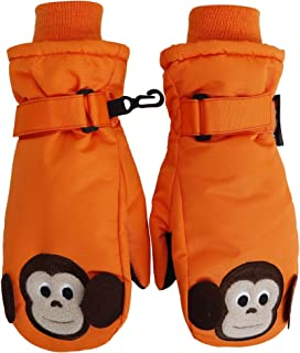 Children's Winter Thinsulate Insulated Waterproof Ski Mittens,Animal