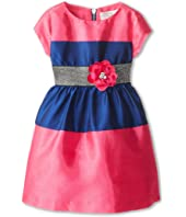 Us Angels - Shantung Colorblock Dress (Toddler/Little Kids)