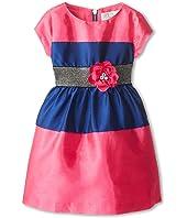 Us Angels - Shantung Colorblock Dress (Toddler/Little Kids)