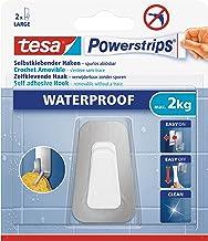 tesa Powerstrips Waterproof Hooks L metal-plastic