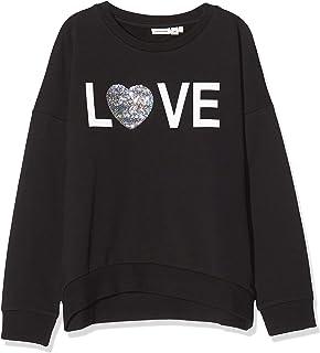 NAME IT meisjes sweatshirts NKFTATIANA LS SWEAT BOX BRU