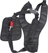 Hanperal Black Comfort Strap Double Shoulder,Trimmer Shoulder Strap for Brushcutters/Trimmers/Strimmer Harness, Garden Brush Cutter Lawn Mower Nylon Belt