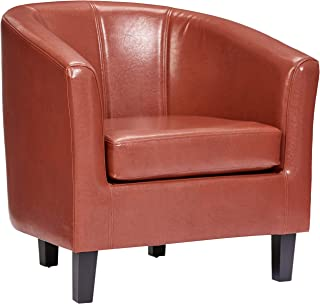 Red Hook Galia Faux Leather Accent Tub Chair - Retro Red