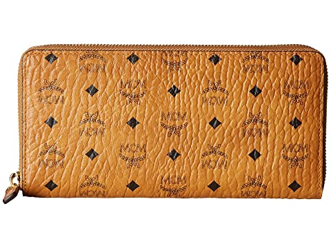 MCM Visetos Original Zip Around Wallet