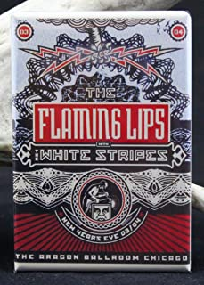 The Flaming Lips & The White Stripes Concert Poster Refrigerator Magnet.