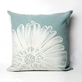 Liora Manne Mystic II Delicate Flower Indoor/Outdoor pillow, Aqua - 20