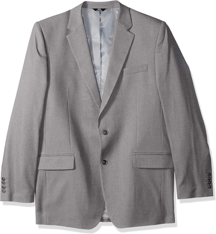 Haggar Men's Solid Gab Stretch Tailored Fit Suit Separate Coat