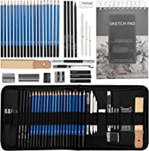 Drawing Pencils Sketch Art Set-40PCS Drawing and sketch set Includes 18 Sketching graphite Pencils,graphite and charcoal p...