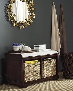Safavieh American Homes Collection Freddy Cherry Wicker Storage Bench