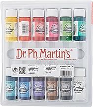 Dr. Ph. Martin's Bombay India Ink (Set 1) Ink Set, 0.5 oz, Set 1 Colors, 1 Set of 12 Bottles