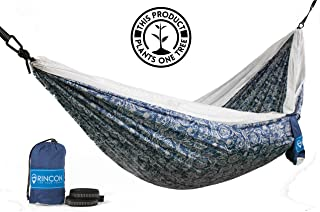 Rincon Camping Hammock with Tree Straps,  Indoor Outdoor,  Travel,  Portable,  Backpack,  Double Parachute Hammock with Bag