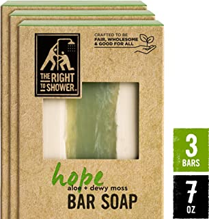 The Right To Shower Bar Soap, Hope, 7 oz, Pack of 3