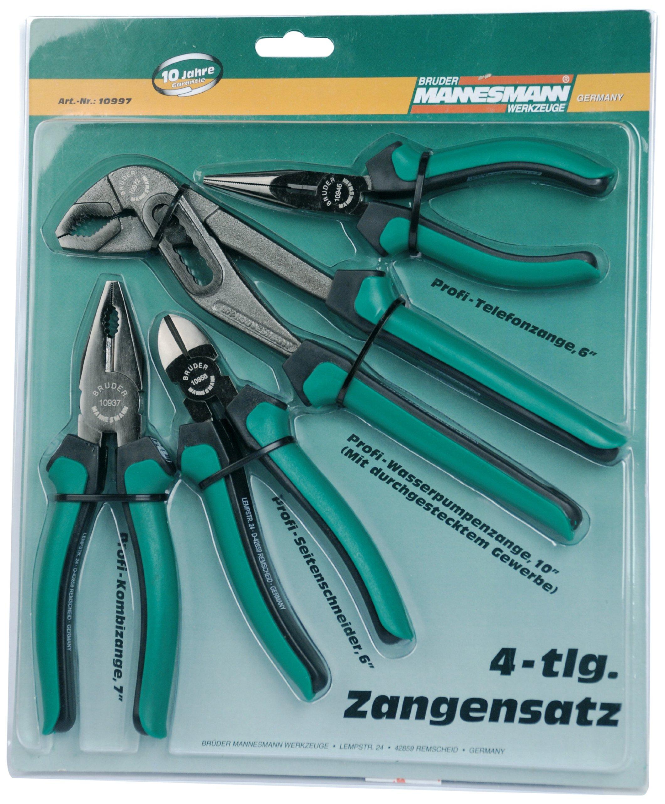 Mannesmann - M10997 - Juego de alicates de 4 piezas.: Amazon.es: Bricolaje y herramientas