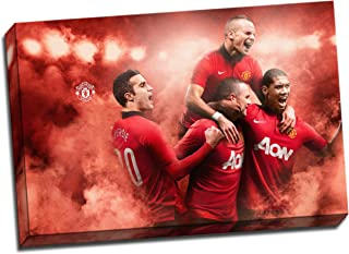 Panther Print Manchester United Canvas Art Print Poster 30
