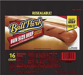 Ball Park, Beef Hot Dog Bunsize, 16 Count