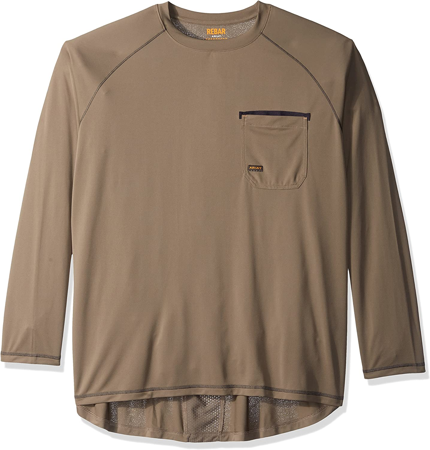 862c2f5b0 Ariat Mens Big and and and Tall Rebar Long Sleeve Sunstopper Crew ...
