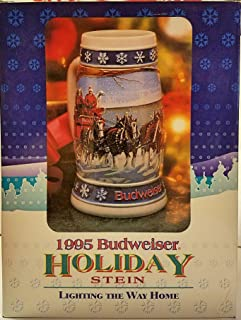 Budweiser Holiday Steins Collectible Holiday Stein Series (Year 1995)