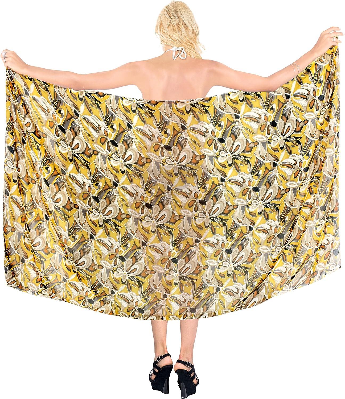 LA LEELA Women's Sarong Swimwear Cover-Up Super-cheap Wrap Special sale item Skirt Si Tie Plus