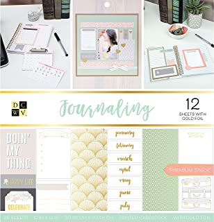 DCWVE Die Cuts with A View Premium Stack-12 x 12-Double-Sided-Journaling-Gold Foil-36 Sheets 614400, Multicolor