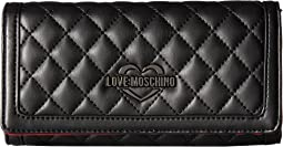 LOVE Moschino - Metallic Quilted Wallet
