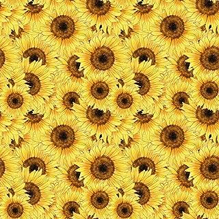 18 x 12 LP Inspired Floral HTV Sunflower 01 Flowers Lilly P Printed Heat Transfer Vinyl Craft Pattern Sheet