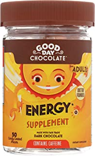 Good Day Chocolate Energy Supplement with Caffeine (Energy, 50 Count Bottle)