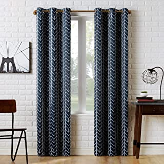 Sun Zero Kenwood Chevron Blackout Grommet Curtain Panel, 40