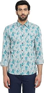 Park Avenue Men's Plain Slim Fit Casual Shirt (PCSA01603-G6_Dark Grey_42)