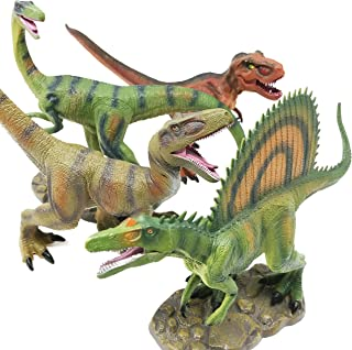 """Boley 4 Pack 12"""" Jumbo Monster Authentic Dinosaur Set - Educational Dinosaur Toy Playset For Kids, Children, Toddlers - Great As Kids Dinosaurs Toys, Dinosaur Party Favors, And Dinosaur Party Supplies"""