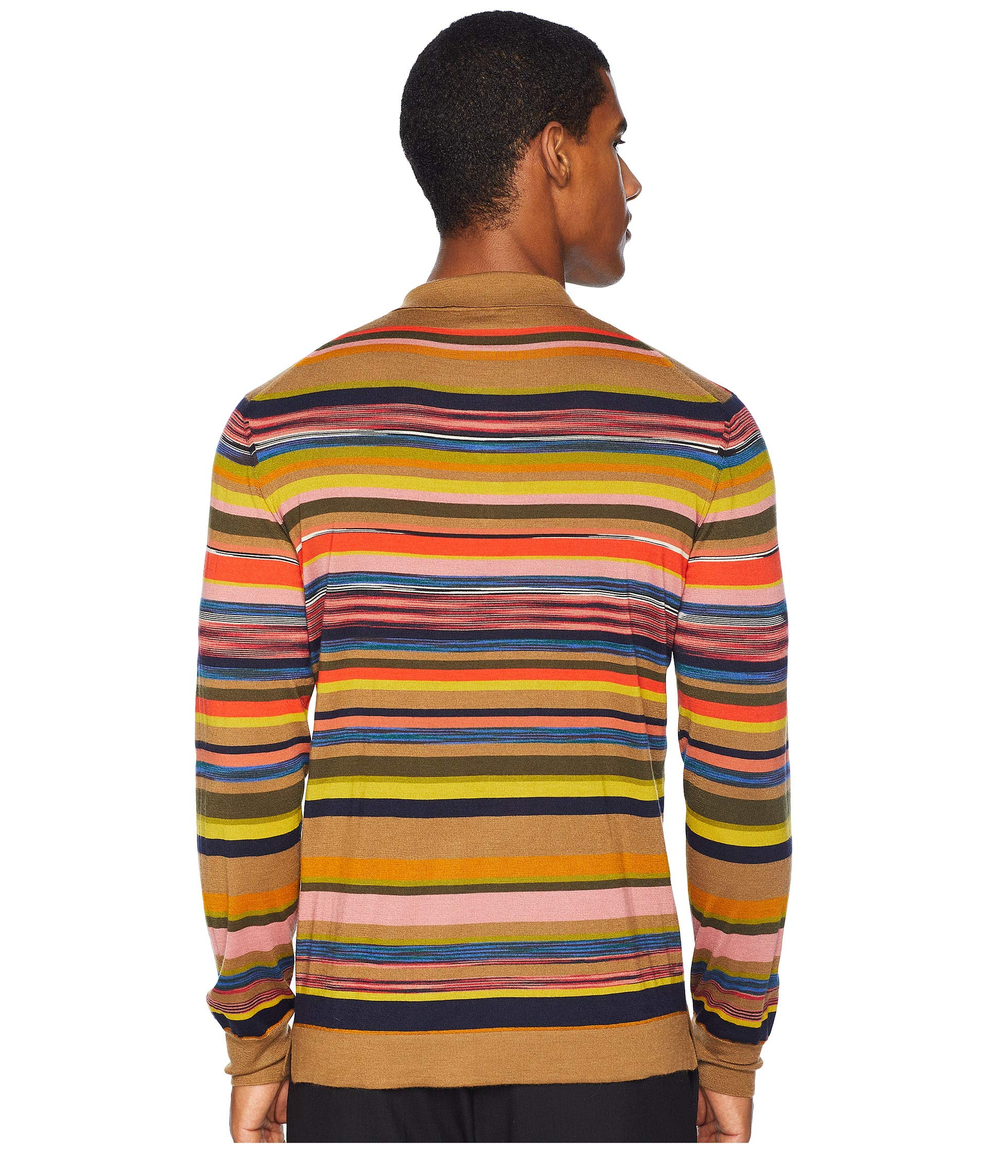 Sweater Polo Sleeve Long Forever Missoni Camel Striped qwxXp4
