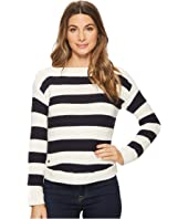 LAUREN Ralph Lauren Striped Cotton Boat Neck Sweater
