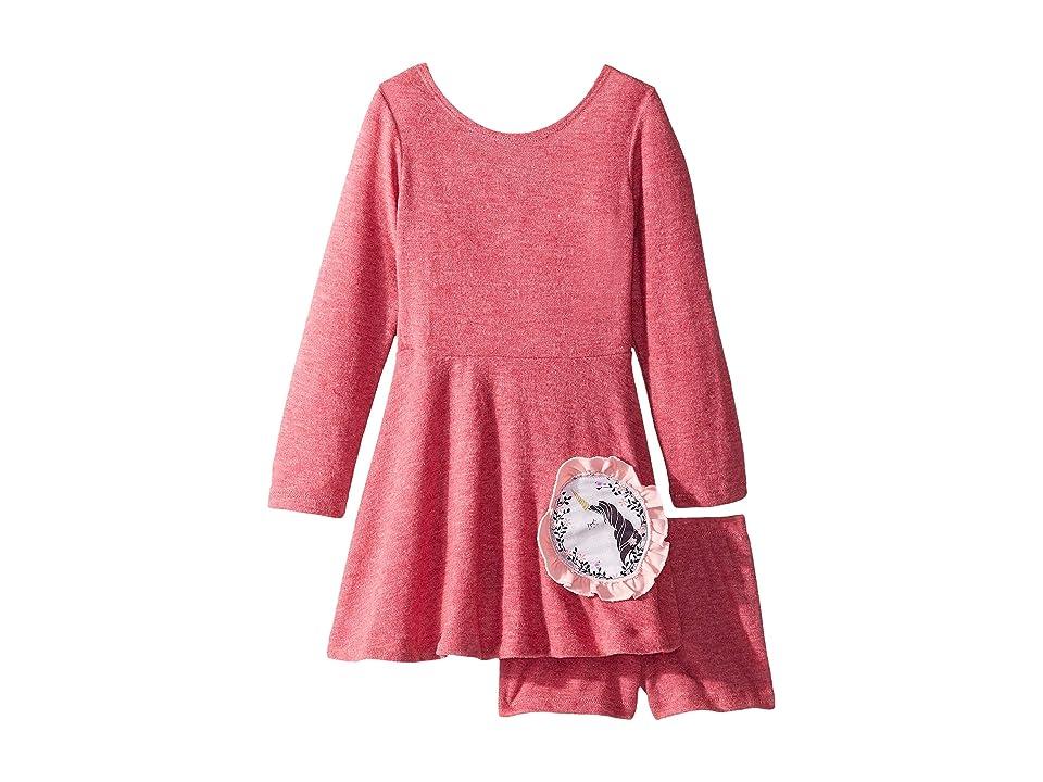 fiveloaves twofish Unicorn Play Skater Dress (Toddler/Little Kids) (Cranberry) Girl
