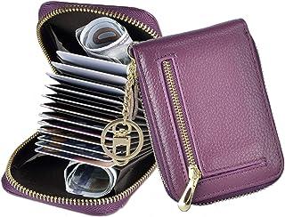 Outrip Kleine RFID-Geldbörse für Damen, mit Reißverschluss, Münzgeldbörse mit Schlüsselanhänger