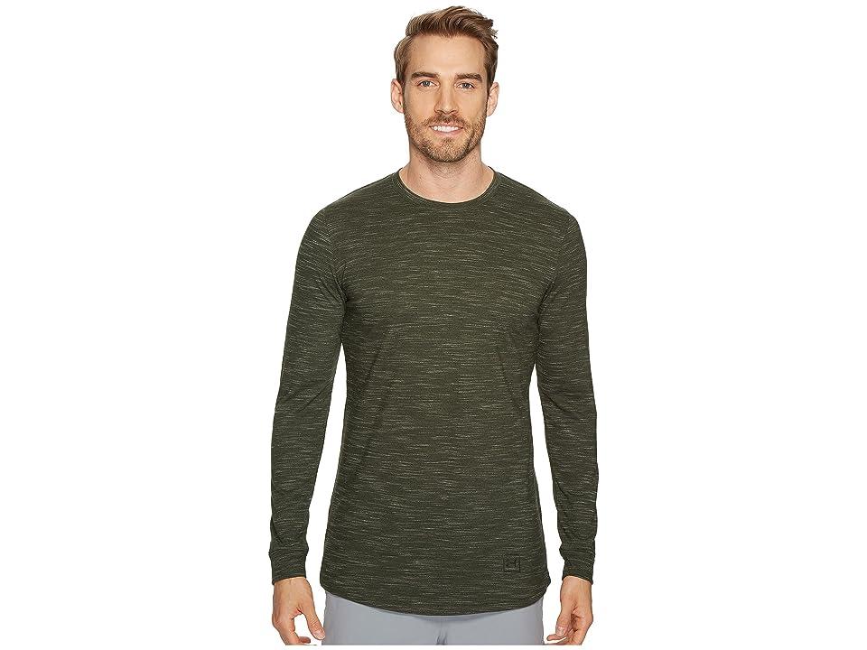 Under Armour Sportstyle Long Sleeve Tee (Artillery Green/Black) Men