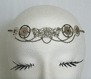 Steampunk Circlet handmade jewelry medieval renaissance victorian edwardian fantasy gothic gear headpiece