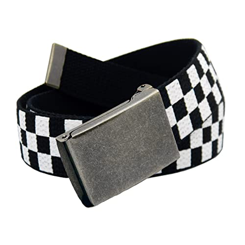 Black and Red Checkered Belt Buckle