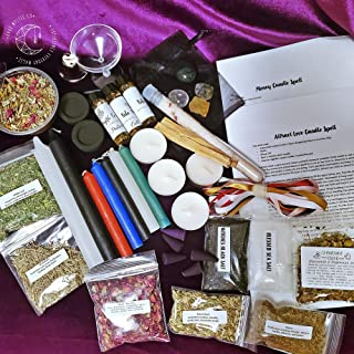 Deluxe Beginner Witch Kit, Wicca Supplies, Witchcraft supplies, Spell Candles, Witchcraft Herbs, Altar Tools, Pagan Supplies, Wicca Decor