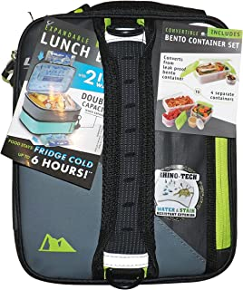 Expandable HardCore Lunch Pack Box- Newest Colors! (Ultra Black)