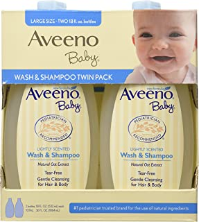 Aveeno Baby Wash and Shampoo, 36 Fluid Ounce