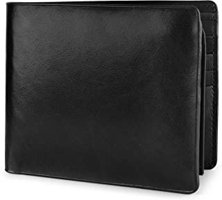 Wallet for Men Italian Leather RFID Blocking Bifold Stylish Wallet With 2 ID Window