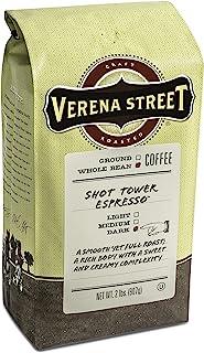 Verena Street 2 Pound Espresso Beans, Shot Tower Espresso Whole Bean, Rainforest Alliance Certified Arabica Coffee