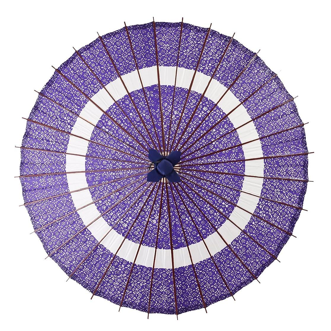 電池あえてプレゼンターよさこい 蛇の目傘 和傘 装飾用 全4色 長傘 手開き 花輪 青 36本骨 舞踏傘 踊り傘