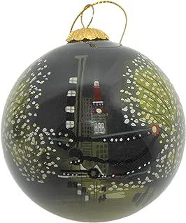 Art Studio Company Hand Painted Glass Christmas Ornament - Denver Night Holiday Lights