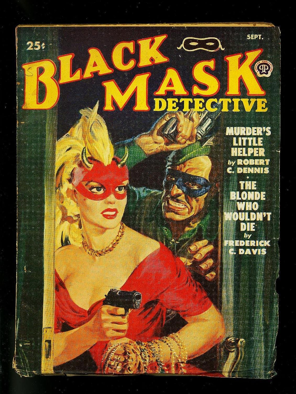 Black Mask Pulp September 1950- Norman San Francisco Mall cover- Gorgeous Ma D Saunders John